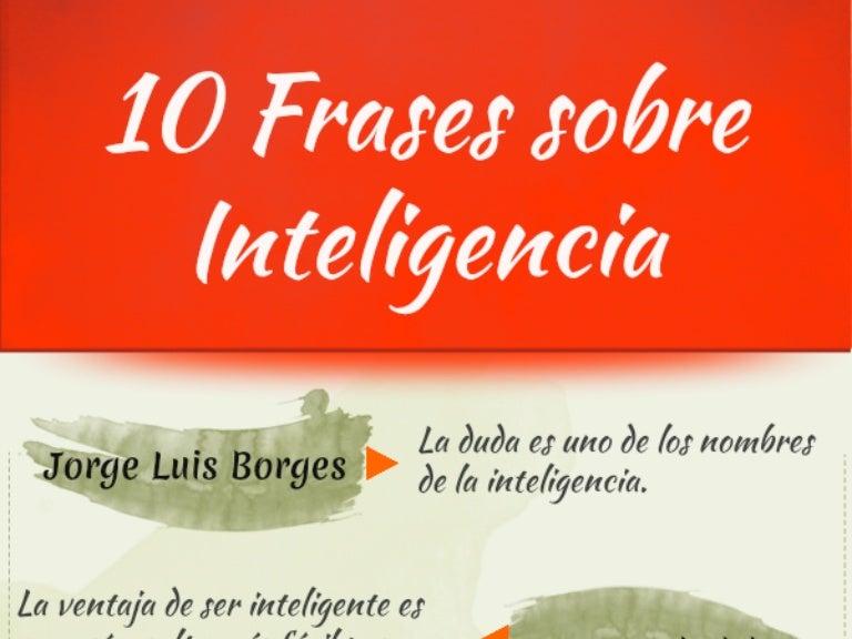 10 Citas Célebre Sobre Inteligencia