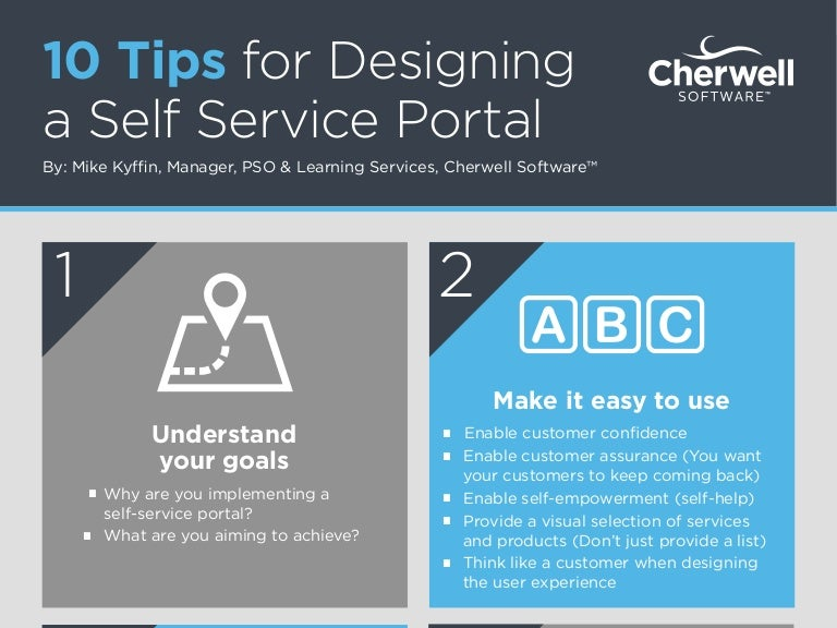 10 tips for designing a self service portal for your