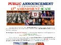 120717 PUBLIC ANNOUNCEMENT (13th Amendment SCAM)
