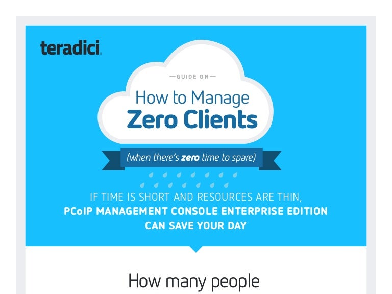 How To Manage Zero Clients Teradici