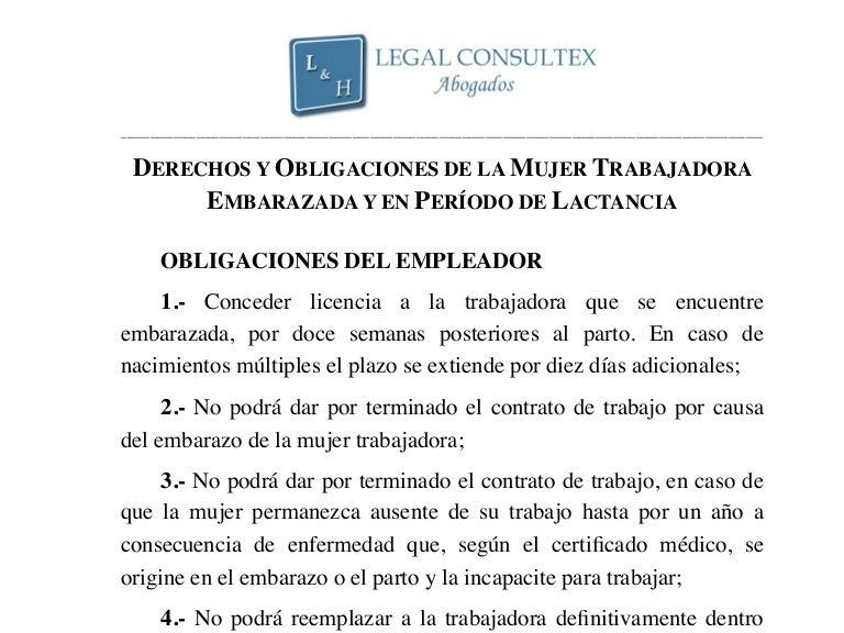 874333124 17. derechos y obligaciones de la mujer trabajadora embarazada y en …