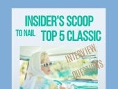 Insider's Scoop to Nail 5 Common Interview Questions
