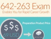 642-263 practice tests & 642-263 real exam questions [Infographic]