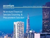 Accenture Financial Services Sourcing and Procurement Solution Infographic