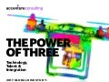 The Power Of Three - Technology, Talent & Integration