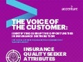 The Voice of the Customer: Insurance Quality Seeker Attributes