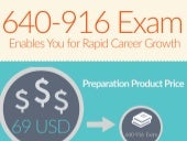 Actual 640-916 exam questions & practice tests [Infographic]