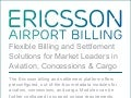 Airport Billing System for Aviation and Non-Aviation Services