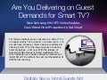 Are You Delivering on Guest Demands for Smart TV?