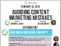 #AtomicChat Avoiding Content Marketing Mistakes