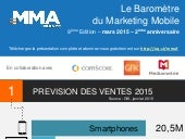 Baromètre Mobile Marketing Association France - infographie - t4 2014