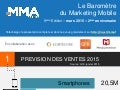 Baromètre Mobile Marketing Association France   infographie - T4 2014