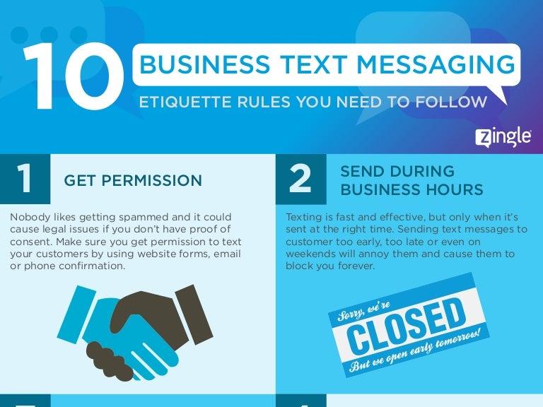 Business Text Messaging Etiquette Infographic
