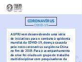 Coronavírus - COVID-19: orientações atualizadas / UFRJ