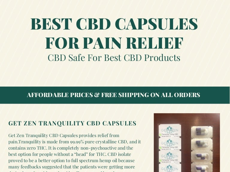 cbd oil capsules for pain