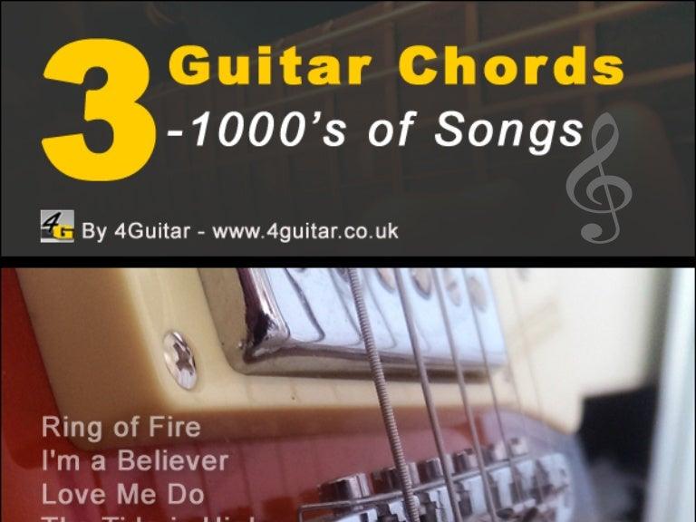 3 Guitar Chords 1000s Of Songs
