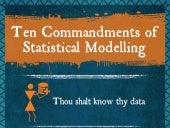 Ten Commandments of Statistical Modelling - Infographic