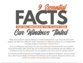 9 Essential Facts that will Encourage You to Have Your Car Windows Tinted