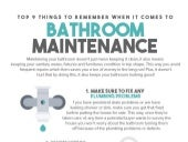 Top 9 Things To Remember When It Comes To Bathroom Maintenance