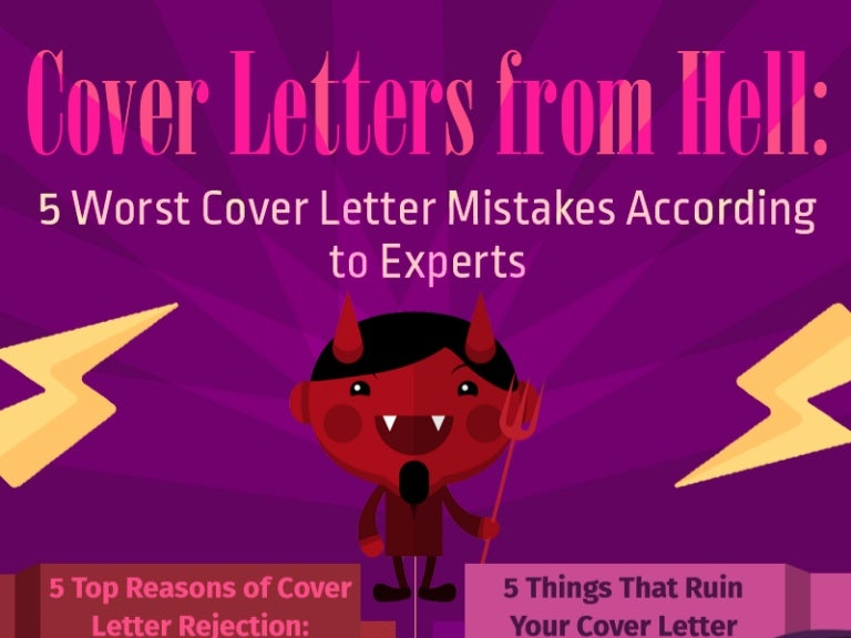 Cover Letters From Hell 5 Worst Cover Letter Mistakes According To E