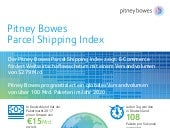 Pitney Bowes Parcel Shipping Index 2018 (Infografik Deutsch)