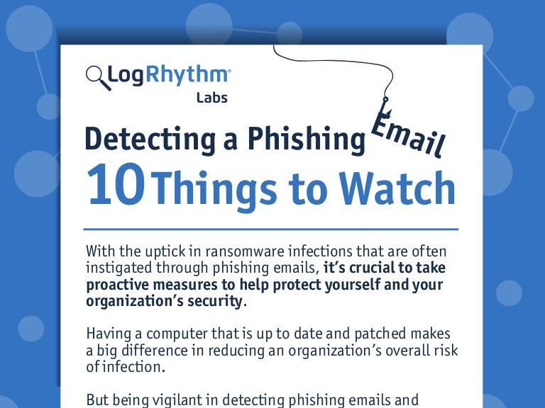 Detecting A Phishing Email 10 Things To Watch Infographic