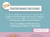 Content Marketing Trends for 2014 [Infographic]