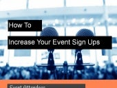 How To Increase Your Event Sign Ups