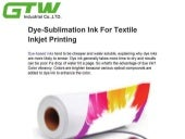 Dye sublimation ink for textile inkjet printing