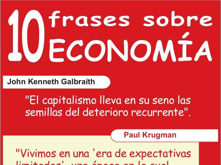 10 Frases Sobre Economía