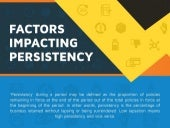 Factors Impacting Persistency | Persistency Analytics | Aureus Analytics