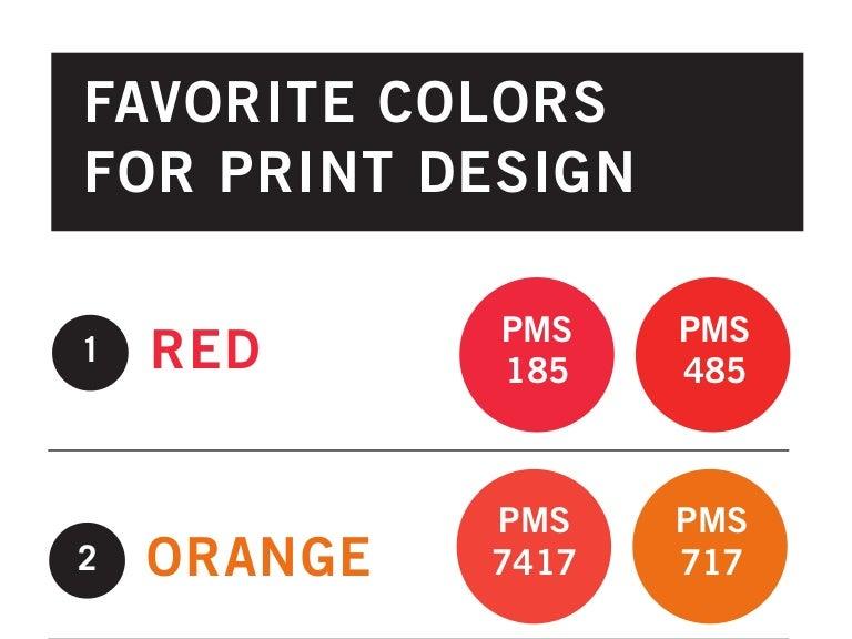 Top 10 Favorite Colors for Print Design Including PMS Colors