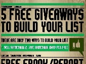 5 Free Giveaways To Build Your List Infographic