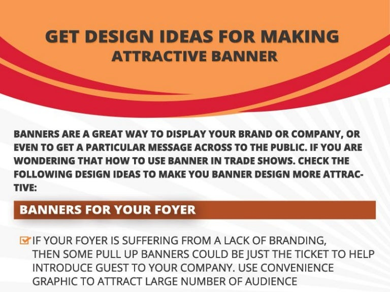 Get the Best Design Ideas for Making an Attractive Banner