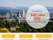 Guide For Salt Lake City Meeting Planners