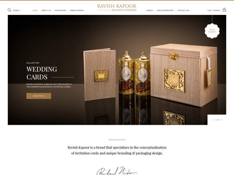 Invitation Cards Website Ui Ux App Design