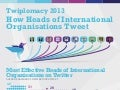 Twiplomacy 2013: How Heads of International Organisations Tweet