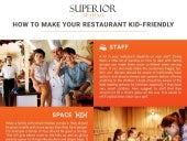 How to make your restaurant kid friendly