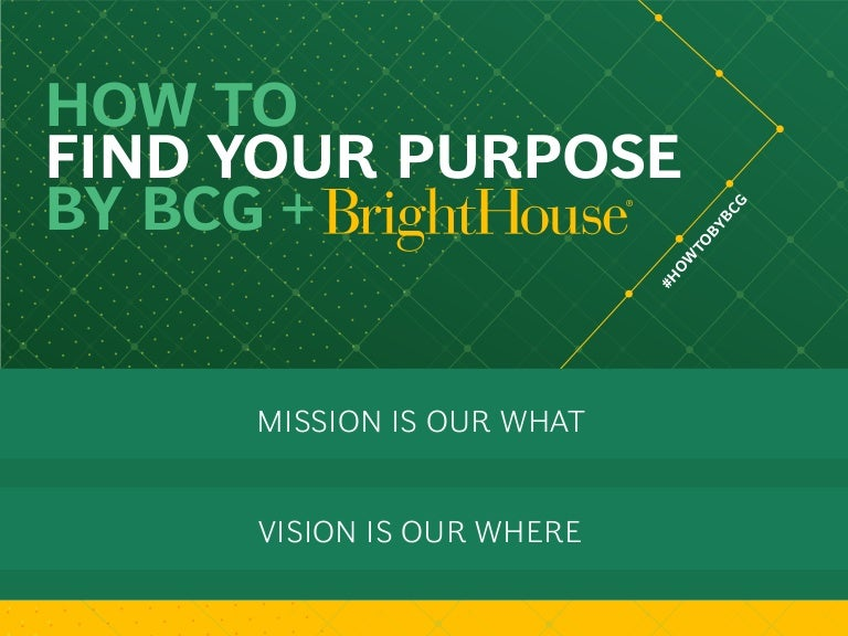 How to Find Your Purpose by BCG and BrightHouse