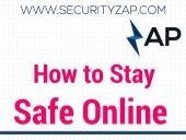 How to Stay Safe Online - Infographic