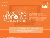 IAB Europe European Video Ad Format Landscape Infographic