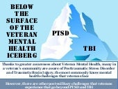 Below The Surface of the Veteran Mental Health Iceberg