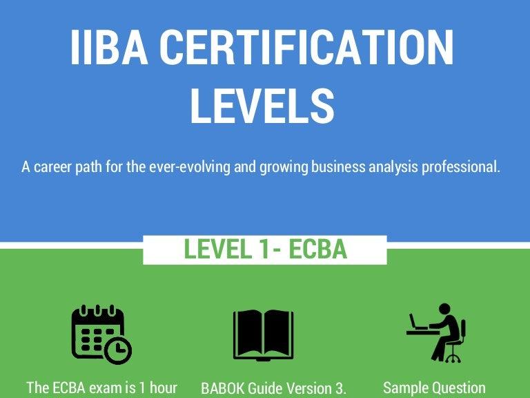 iiba certification introduction levels