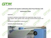 Industrial roll machine sublimation heat press machine with sublimation paper