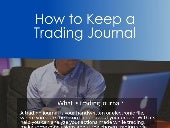 How to Keep a Trading Journal
