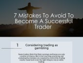 7 Mistakes To Avoid To Become A Successful Trader
