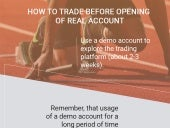 How to trade before opening of real account