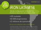 INFOGRAFÍA Índice Reputacion Online de hoteles y destinos urbanos de Latinoamércia 2016