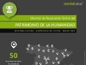 INFOGRAFÍA Monitor de Reputación Online del Patrimonio Cultural de la Humanidad 2019