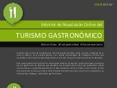 INFOGRAFÍA Monitor de Reputación Online del Turismo Gastronómico 2019